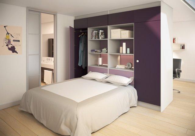 amnager autour dun lit - Amenager Un Dressing Dans Une Chambre