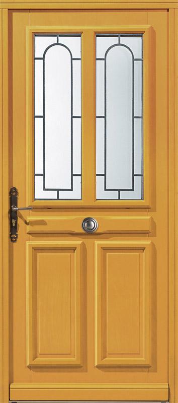Offrez vous une porte d entr e en bois exotique clair tanguy - Fabriquer une porte d entree en bois ...